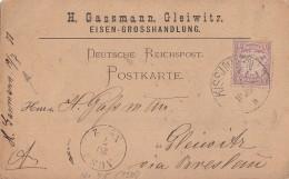 Bayern Karte EF Minr.45 Kissingen 19.7.80 Gel. Nach Gleiwitz - Bayern