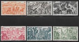Reunion, Scott # C26-31 Mint Hinged Chad To Rhine Issue,1946 - Airmail
