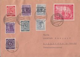 Brief Zehnfachfrankatur Stuttgart-Bad Cannstatt 23.6.48 Gel. Nach Heilbronn - Ohne Zuordnung