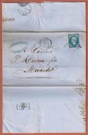 T.D. Guebwiller 1862 Pour Munster Oblit.Losange 1460 Entête: N.Schlumberger & Cie - Alsace Lorraine