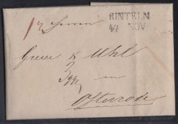 Brief Gel. Von L2 Rinteln 14.11.1831 Nach Osterode - Deutschland