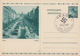 Böhmen & Mähren Ganzsache Minr.P6/09 Husdenkmal Gestempelt - Deutschland