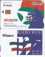 ITALY(chip) - El Esercito, Radio West, Telecom Italia Satellite Card 10 Euro, CN : 0098, Exp.date 31/12/05, Used - Armée