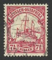 German East Africa, 7 1/2 H. 1906, Sc # 33, Mi # 32, Used, Muansa - Colony: German East Africa