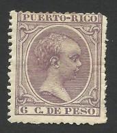 Puerto Rico, 6 C. 1896, Sc # 115, MH - Puerto Rico