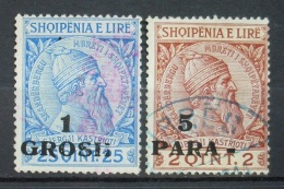 Albanien Lot 1914 Mi.Nr.44,41 Aufdruck Gestempel    (H185) - Albania
