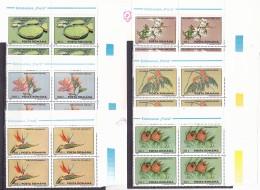 ROUMANIE 1995 FLOWERS  Yvert N° 4287 à 4292 , MNH Neufs** ,IN BLOCK OF FOUR . - 1948-.... Republiken