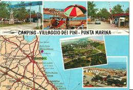 "Punta Marina (Ravenna, Emilia Romagna) Camping ""Villaggio Dei Pini"" E Cartina Geografica - Ravenna"