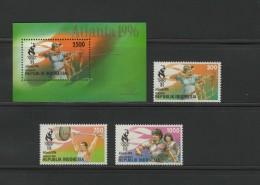 Indonesia 1996 Olympic Games Atlanta Set Of 3 + S/s MNH - Zomer 1996: Atlanta
