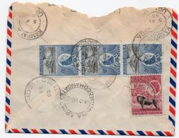 EAST AFRICA - REGISTERED AIR MAIL COVER TO ITALY 1955 / THEMATIC STAMPS-LION - Kenya, Uganda & Tanganyika