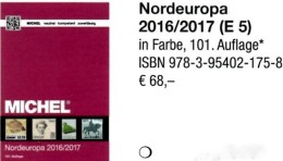 MICHEL Nord-Europa 2016/2017 Katalog Neu 68€ Band 5 North-Europe Stamp Danmark Eesti FL Isl Latvia Litauen Norge Sverige - Telefonkarten