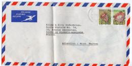 AFRIQUE DU SUD--1980-Lettre De DURBAN Pour Plessis-Robinson-92-(France)--Composition De Timbres (fleurs)-cachet - South Africa (1961-...)