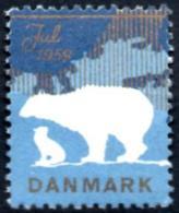 DANMARK Vignette - Cinderella Fauna Ours Polaire Polar Bear Polarbär Oso Christmas Navidad Noël Neuf - Mint - MNH - Ours