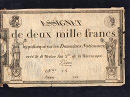 Assignat De 2000 Francs - Série 549 - Assignate