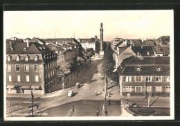 AK Darmstadt, Blick In Die Rheinstrasse - Darmstadt