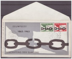 Surinam / Suriname 1963 FDC 26-1M 100 Year Abolition Of Slavery - Surinam ... - 1975