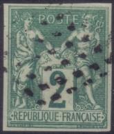YT30 Sage 2c Vert - Losange Points Noirs Petit Bureau Guadeloupe - Sage