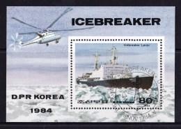 North Korea 1984 Icebreaker Lenin Minisheet CTO - Corée Du Nord