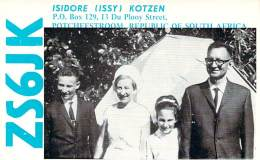 Amateur Radio QSL Card - ZS6JK - South Africa - 1968 - 2 Scans - Radio Amateur