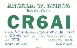 Amateur Radio QSL Card - CR6AI - Angola AFRICA - 1969 - Radio Amateur