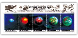 1996 North Korea Stamps Solar System Planet Earth MS - Korea, North