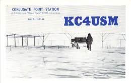 Amateur Radio QSL Card - KC4USM - Conjugate Point Station ANTARTICA - 1968 - 2 Scans - Radio Amateur