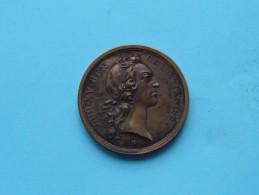 LUD.XV.REX CHRISTIANISS - M.DCC.XLV ( Mariage 1745 / Bronze ) La France ! - Royaux / De Noblesse