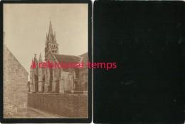 BRETAGNE-en 1903-église-cartonnée Format 12x 8,8cm TB état - Antiche (ante 1900)