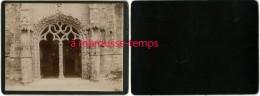 BRETAGNE-en 1903-porche D´église Très Travaillé-cartonnée Format 12x 8,8cm TB état - Antiche (ante 1900)