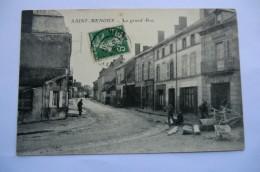 CPA 03 ALLIER SAINT MENOUX. La Grande Rue. 1912. - France