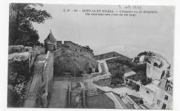 LE MONT ST MICHEL - N° 89 - L' ESCALIER VU AERIENNE EN DIRIGEABLE - CPA NON VOYAGEE - Le Mont Saint Michel