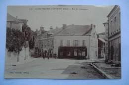 CPA 18 CHER SAINT MARTIN D AUXIGNY. Rue Du Commerce. - Autres Communes