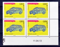 Andorre 739 Europa Bus Bloc De 4 Coin Daté 11 4 13 Neuf ** TB MNH Sin Charnela - Andorre Français