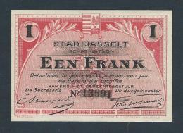 . Belgique (Noodgeld) - Stad Hasselt - Een FranK (UNC) - [ 2] 1831-... : Royaume De Belgique