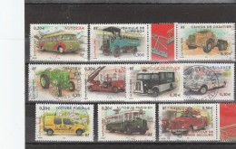 FRANCE 2003 SERIE COMPLETE VEHICULES UTILITAIRES OBLITERE ROND + CENTREE 3609 A 3618 - Used Stamps