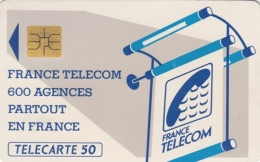 T237 - France, Phonecard, 600 Agences, 50 Units, Used, 2 Scans - Frankrijk