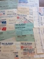 Gaz De France : 20 Relevés, Redevances & Factures, De 1946 à 1951 - Vieux Papiers