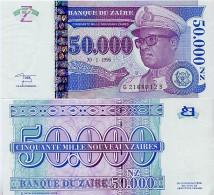 ZAIRE       50,000 Nouveaux Zaïres       P-75       30.1.1996       UNC  [ 50000 ] - Zaire
