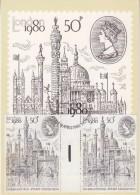 Great Britain 1980 London '80 International Stamp Exhibition 1v Gutter On Maxicard (31116) - Maximumkaarten