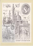 Great Britain 1980 London ´80 International Stamp Exhibition 1v On Maxicard (31117) - Maximumkaarten