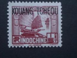 """KOUANG-TCHEOU  Colonie France  *  1937   """"   TP D'Indochine Surchargé  """"   N° 97 Et 98 .       2 Val . - Gebruikt"""
