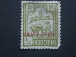 """KOUANG-TCHEOU  Colonie France  *  1927   """"   TP D'Indochine Surchargé  """"   N° 73 Et 74 .       2 Val . - Gebruikt"""