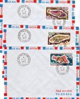 TAAF    43 45  Poissons Sur Lettre   Oblitéré 17 02 1972 Cachet Saint Paul Et Amst Used Cote Dallay 23.5 - Storia Postale