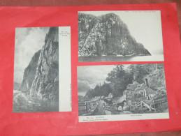 QUEBEC  1902  LOT 3 CPA / CAP TRINITE /  SAGUENAY RIVER / CHEMIN DE SILLERY   CIRC NON EDITION - Montmorency Falls