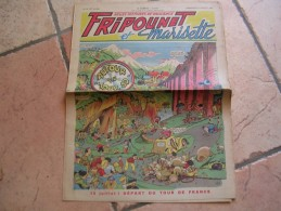 """FRIPOUNET ET MARISETTE   N° 28  """" AUTOUR DU TOUR 50 """"   -  FLEURUS  JUILLET 1950  ( TOUR DE FRANCE 1950 ) - Fripounet"""