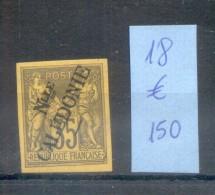 NOUVELLE CALEDONIE YVERT NR. 18 MH VOIR SCANS COTATION YVERT 150 EUROS - Ongebruikt