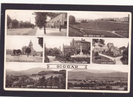 Multi View Post Card Of Biggar,South Lanarkshire,Scotland. ,Posted With Stamp,N45. - Lanarkshire / Glasgow