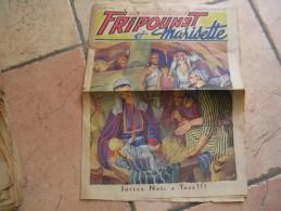 """FRIPOUNET ET MARISETTE   N° 52  """" JOYEUX NOËL A TOUS ! ! ! """"   -  FLEURUS  DECEMBRE 1950 - Fripounet"""