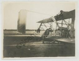 """Photo Légendée """"Wilbur Wright Au Mans"""". Première école D'aviation. 1908. - Aviation"""