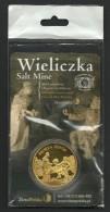 Poland, Souvenir Jeton, Wieliczka Salt Mine, Holy Queen, Sealed - Tokens & Medals
